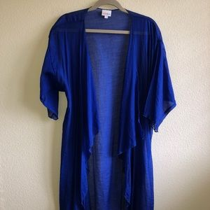 EUC LuLaRoe Cobalt Blue Shirley Cardigan